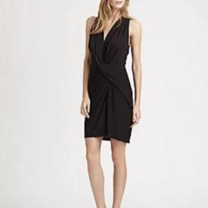 Haute Hippie Dress Criss Cross Jersey Black $445 L